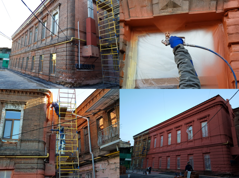 Покраска фасадов Харьков фото