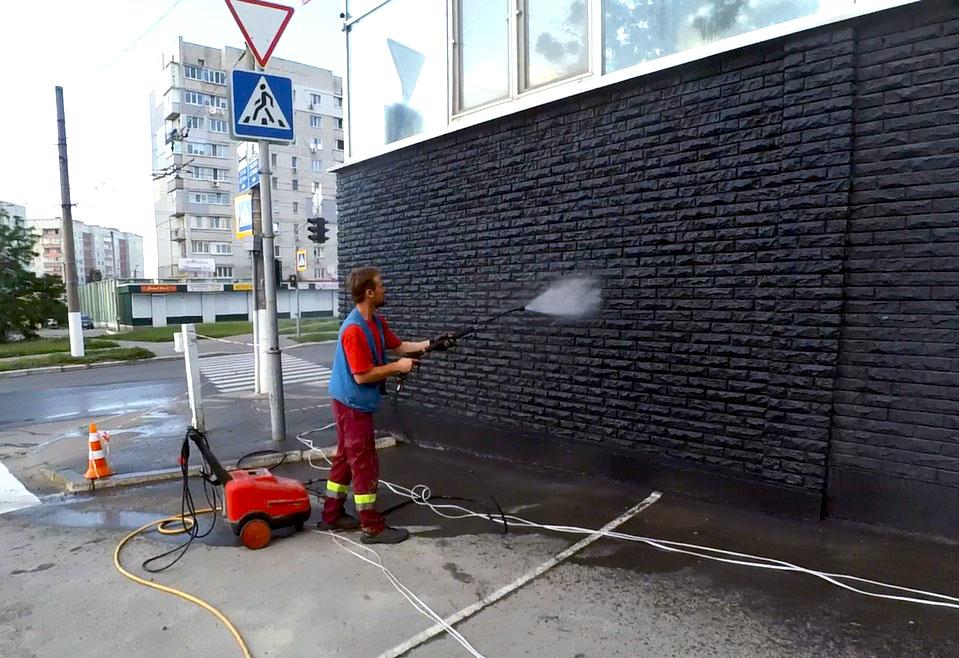 Гидроструйная очистка фасада РК Этуаль