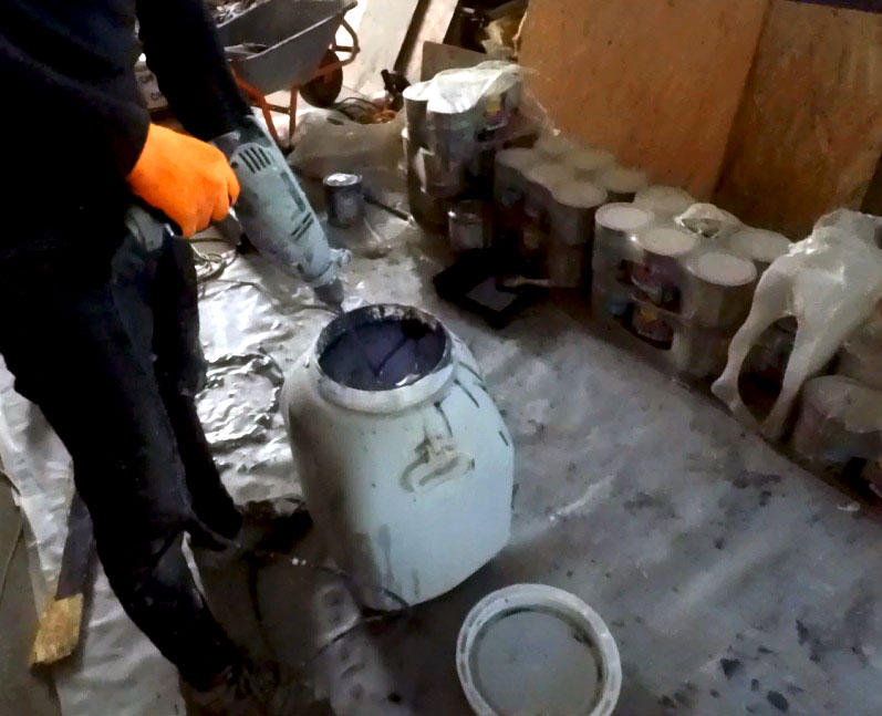 Photo of mixing paint