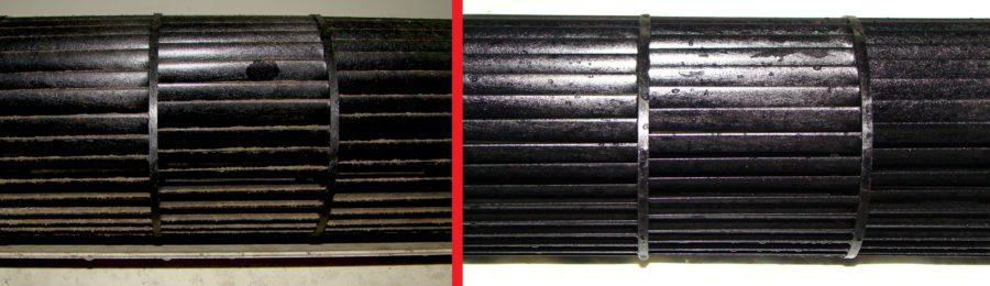 Фото сравнения до и после очистки кондиционера