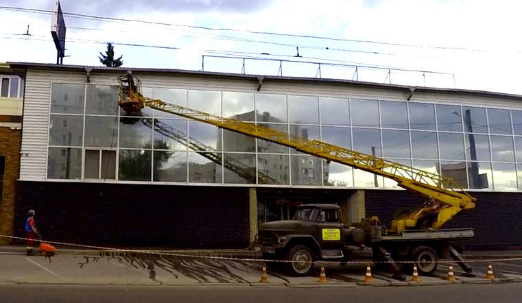 Гидроструйная очистка фасада