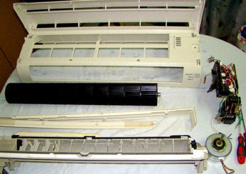Фото очищенного внутреннего блока кондиционера