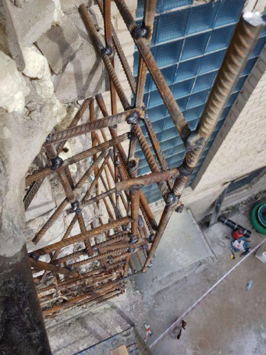 Восстановление повреждённой плиты на высоте фото
