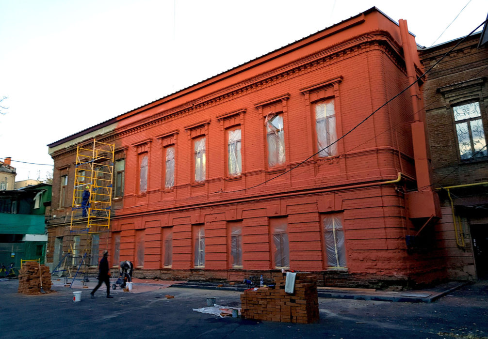 Фото покраски фасадов АВД