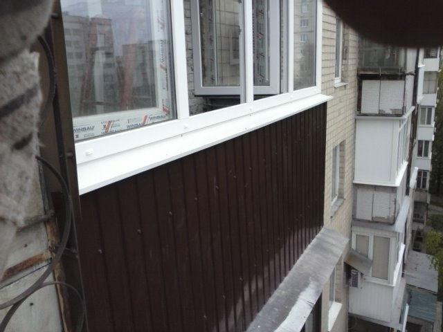 Обшивка балкона Харьков фото