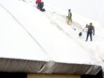 Snow removal on the pitched roof