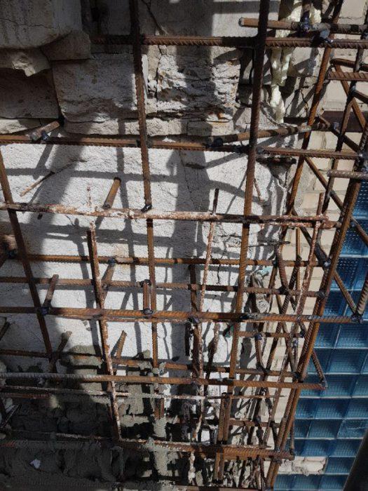 Восстановление поврежденной плиты промышленными альпинистами_3 фото