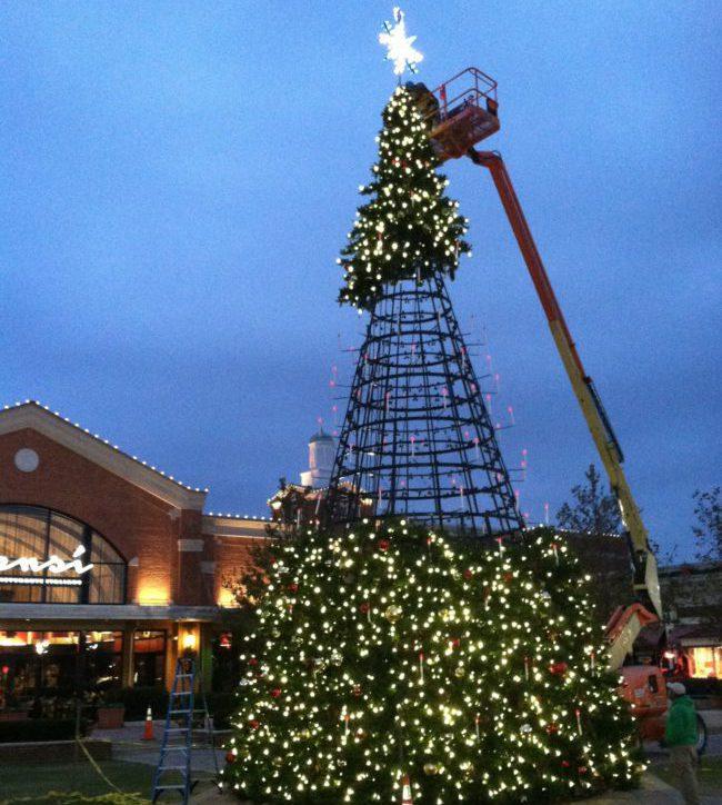 Установка новогодней елки