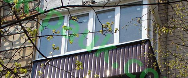 Фото обшивки балкона Харьков